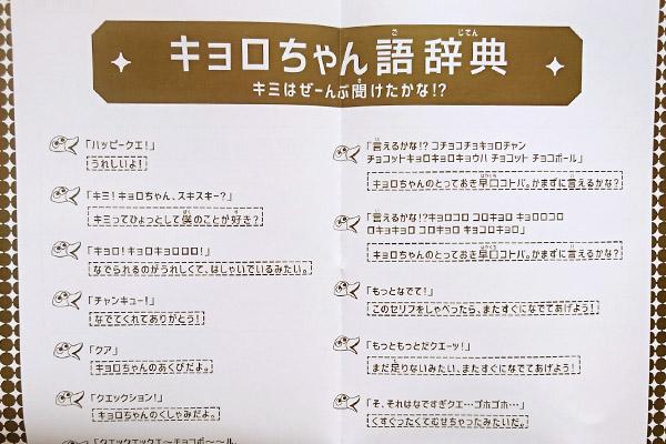 キョロちゃん語辞典